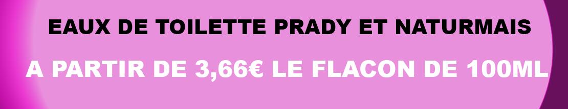eaux de toilette prady et naturmais sur monsouk.fr